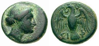Σιφνέικο νόμισμα με απεικόνιση της Αρτέμιδος