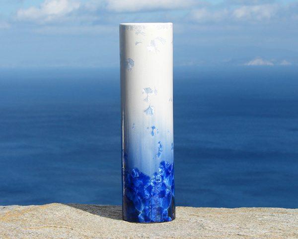 crystalline-cylinder-vase-white-and-blue-3_sifnos-stoneware