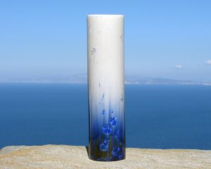 crystalline-cylinder-vase-white-and-blue_2020_sifnos-stoneware