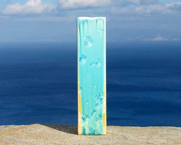 crystalline-square-vase-turquoise-tan_sifnos-stoneware