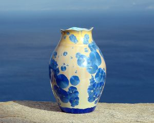 crystalline-vase-blue-on-orange2_sifnos-stoneware