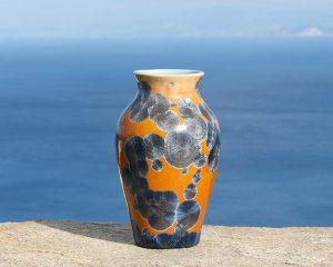 crystalline-vase-silver-blue-on-tan_sifnos-stoneware