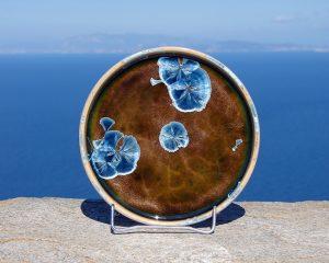crystalline-round-plate_blue_tan_sifnos-stoneware
